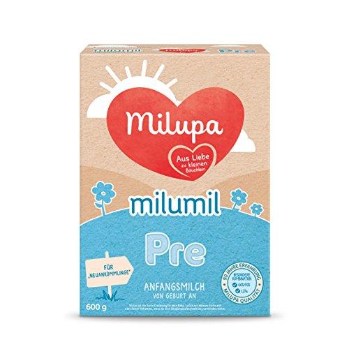 Milupa Milumil Pre Anfangsmilch - von Geburt an, 4er Pack (4 x 600g) Milupa Nutricia GmbH