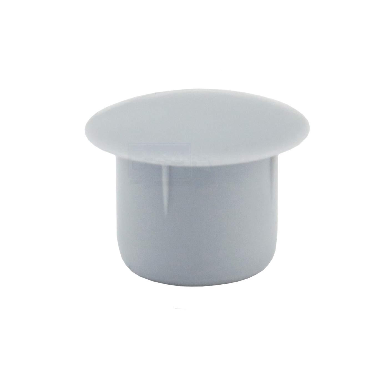 pl/ástico color gris cabeza de 14 mm Irox 50 tapones para orificio de 10 mm