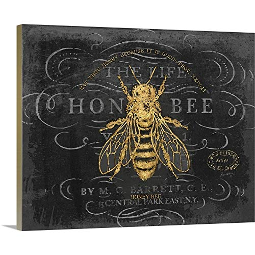 Chad Barrett Premium Thick-Wrap Canvas Wall Art Print Entitled Honey Bee 20