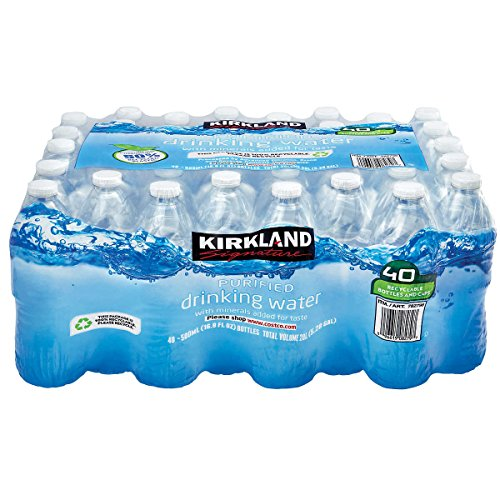 Kirkland Signature Purified Drinking Water, 16.9 Ounce, 40 Count ()