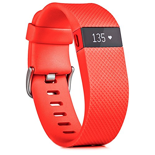 "Heart Rate Sleep Wristband Fitbit Charge HR Activity, Tangerine, Fits wrist 6.2 - 7.6"" (15.7 - 19.3 cm) / Large"
