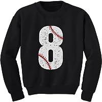 Tstars - 8th Birthday Gift for Eight Year Old Baseball Fan Youth Kids Sweatshirt