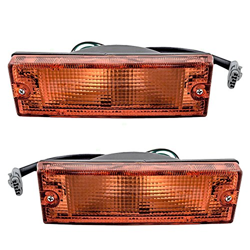 Driver and Passenger Park Signal Front Marker Lights Lamps Lenses Replacement for Honda Isuzu SUV Pickup Truck 8-97173-532-0 8-97173-531-0
