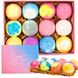 Vitanass 12 Bath Bombs Gift Set,Nature Bath Bomb Kit With Organic Shea & Coco Butter Dry Skin Moisturize,Perfect for Spa Bomb Fizzies, Best Gift Ideas For Women, Mom, Girls, Teens, Her