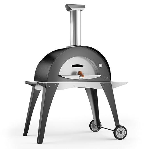 Alfa Horno de Leña para exterior (acero Pizza Ciao l gris plata ...