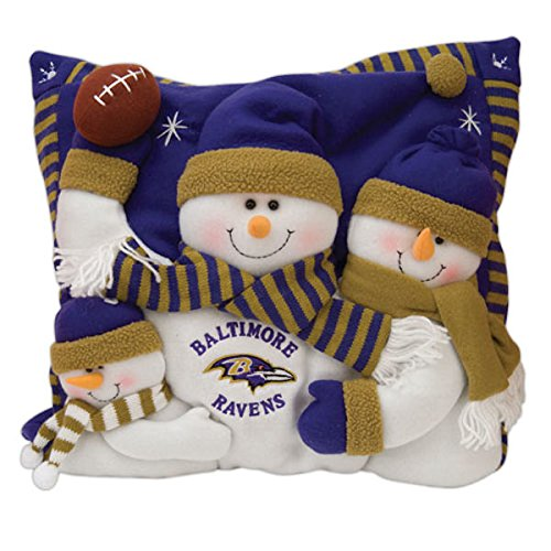 (SC Sports Baltimore Ravens Snowman Family Pillow)