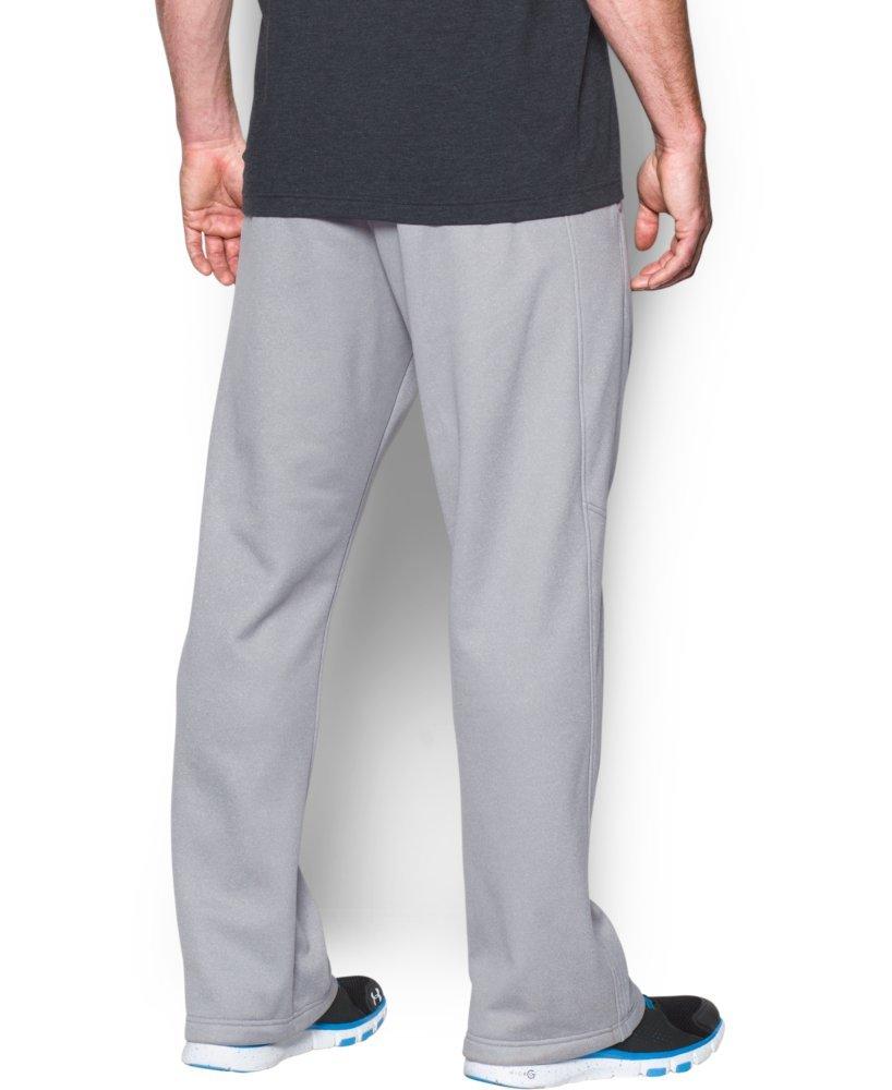 Under Armour Men's Storm Armour Fleece Pants, True Gray Heather /Black, XXXX-Large by Under Armour (Image #2)
