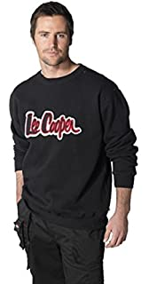 f06c822d New Mens Lee Cooper Crew Neck Sweatshirt Anti Pill Durable Comfort Thermal  Large Logo Comfortable Warm…