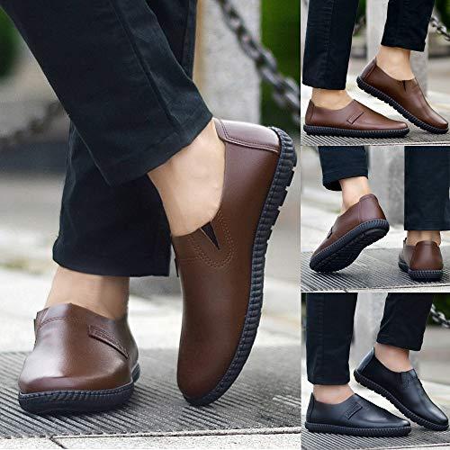 GongzhuMM Vintage Mocassins Homme Automne Hiver Chaussures de Ville  d affaires Chaussures en Cuir sans Lacets pour Hommes 39-42.5 EU   Amazon.fr  Chaussures ... 37d4014aea52