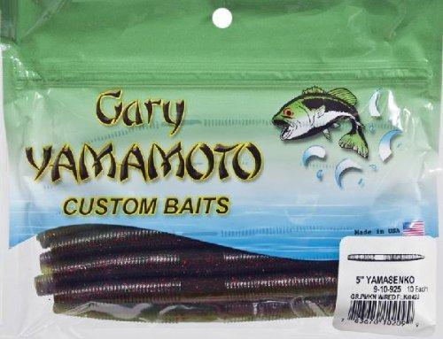Gary Yamamoto Senko 5in 10/bg Green Pump/Red Flake Md#: 9-10-925 by Gary - Green Flake Small