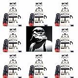 JSM 8pcs Star Wars Minifigures Stormtrooper Mini Figures Storm Trooper Custom Lego
