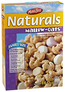 Mom's Best Natural Mallow Oats Cereal, 16-Ounce Boxes (Pack of 12)