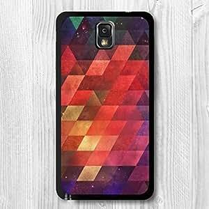 Samsung Galaxy Note 4 Case Set, Nebula Geometric Triangles Stylish Patterned Protective Skin Cover For Samsung Galaxy Note 4 + Screen Protector + Earphone Anti Dust Plug + Retail Package