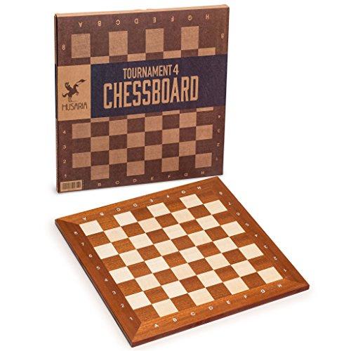 Husaria Professional Tournament Chess Board, No. 4, 16 Inches