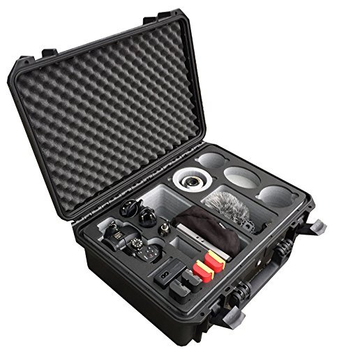 Professional Transport Carrying case for Panasonic Lumix GH5 and GH5S – with a lot of Space for Accessories Such as 3 Lenses, 5 Battery Packs, Various Cables and adapters and More by MC-CASES