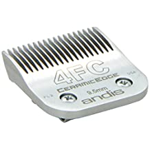 Andis CeramicEdge Carbon-Infused Steel Pet Clipper Blade, Size-4FC, 3/8-Inch Cut Length (64295)