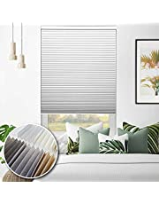 """Select Blinds Canada Custom Cordless Light Filtering Honeycomb Cellular Shades - Soft Glow - Any Size 18-84"""" W x 18-84"""" H, 10 Colour Choices, Inside or Outside Mount"""