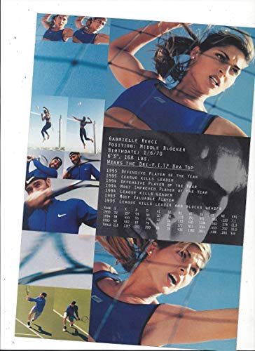 PRINT AD With Gabrielle Reece For Nike Products