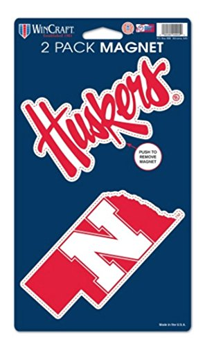 NCAA University of Nebraska Huskers 2-pack Die Cut Magnet Set (Ncaa Nebraska University)