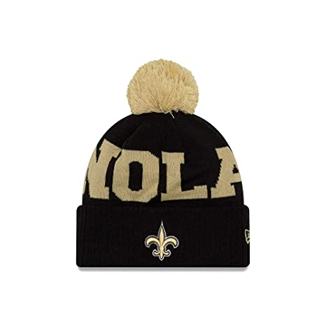2a736d49a458e5 Image Unavailable. Image not available for. Color: Orleans Saints  Scoreboard Cuffed Knit Pom Hat/Cap