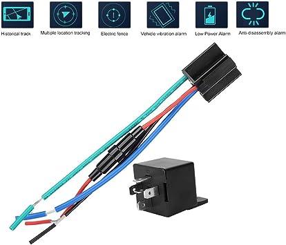 Rastreador GPS para vehículos, relé de Seguimiento de Coche en Tiempo Real Localizador de rastreador GPS Control Remoto Sistema de alimentación antirrobo: Amazon.es: Electrónica
