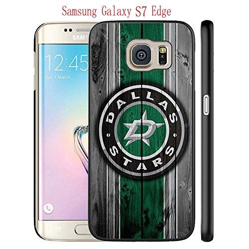 fan products of Samsung Galaxy S7 Edge Case, Dallas Hockey Team logo 50 Drop Protection Never Fade Anti Slip Scratchproof Black Hard Plastic Case