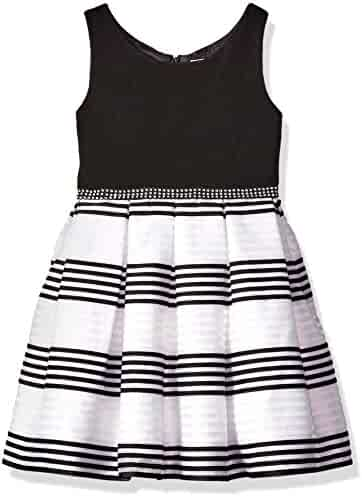 Youngland Little Girls' Organza Stripe Special Occasion Dress