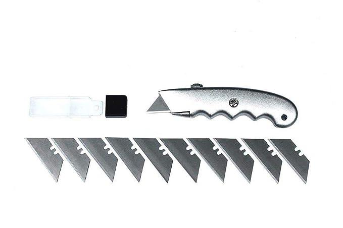 1/universal cuchilla trapezoidal/ /Cutter ergon/ómico /4/niveles Hoja de cajones Incluye 10/cuchillas de repuesto/ /Cuchillo multiusos/
