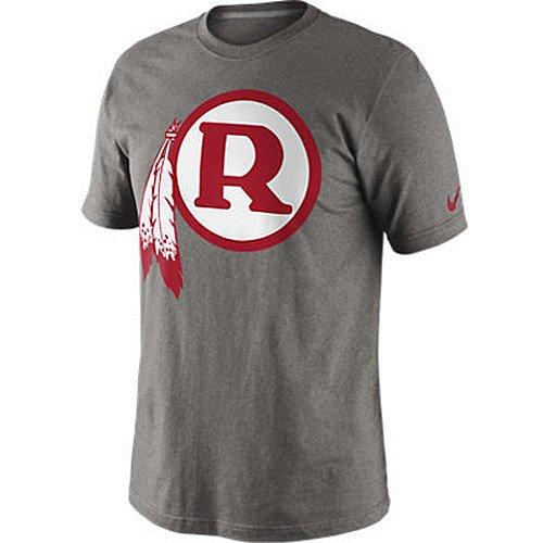 Nike Mens Washington Redskins Retro Logo T-shirt, Grey, Large