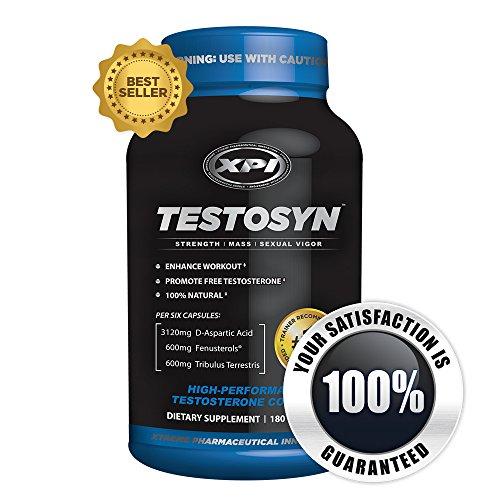 Testosyn - High Performance Testostérone Supplément, 180 comte