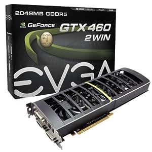 EVGA GeForce GTX 460 2Win 2048 MB GDDR5 PCI Express 2.0 3DVI/Mini-HDMI Graphics Card, 02G-P3-1387-KR