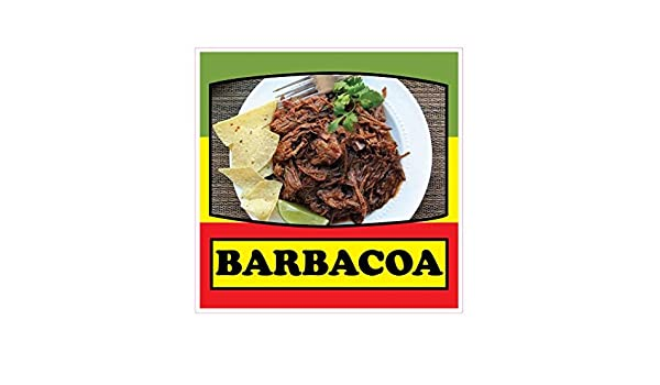 Barbacoa Concession Restaurant Food Truck Die-Cut Vinyl Sticker 14 inches on Longest Side: Amazon.com: Industrial & Scientific