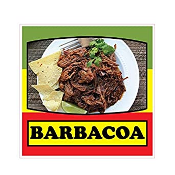 Barbacoa Concession Restaurant Food Truck Die-Cut Vinyl Sticker 14 inches on Longest Side