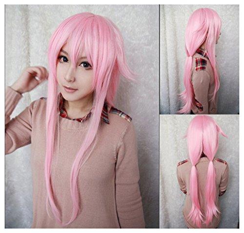 Price comparison product image Kadiya Cosplay Wig Synthetic Long Straight Pink Girl Hair Top Quality