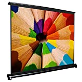 Maxstar 50'' Professional Mini Portable Tabletop Projector Screen | 16:9 Format | 44'' x 25'' Viewing area | Compact table projector screen Easy & quick setup