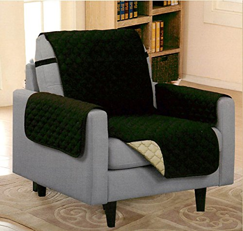 Pet dog quilted recliner furniture protector cover couch for Furniture covers with straps