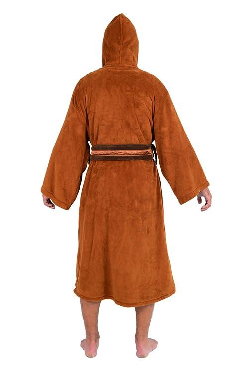 Amazon.com: Star Wars Mens Fleece Graphic Long Robe Brown O/S: Clothing
