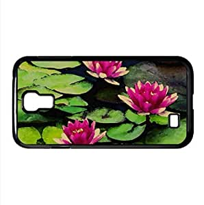 Fragrant Water Lilies Watercolor style Cover Samsung Galaxy S4 I9500 Case (Flowers Watercolor style Cover Samsung Galaxy S4 I9500 Case)