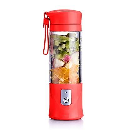 Nclon Individual Portátil Batidora Zumos de fruta Smoothie maker,Recargable Exprimidor Vasos Eléctrico Casa Oficina