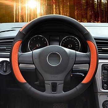 Amazoncom Car Steering Wheel CoverDiameter InchPU Leatherfor - Acura rsx steering wheel cover
