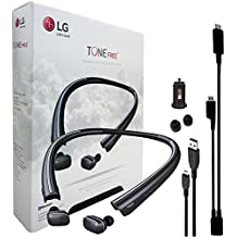 """LG TONE FREE HBS-F110 """"HD"""" Wireless Bluetooth Earbuds with Charging Neckband & Car Charger, Ear Gels + RIM Y Wire (Certified Refurbished)"""