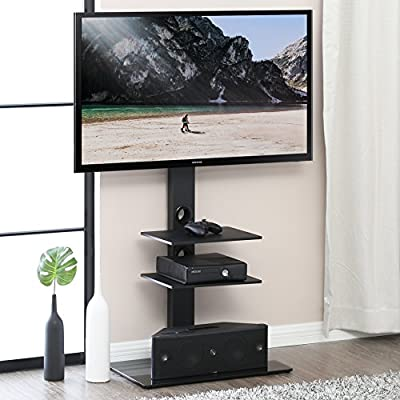 FITUEYES Swivel TV Stand with Mount for 32-65 Inch,TT307001MB
