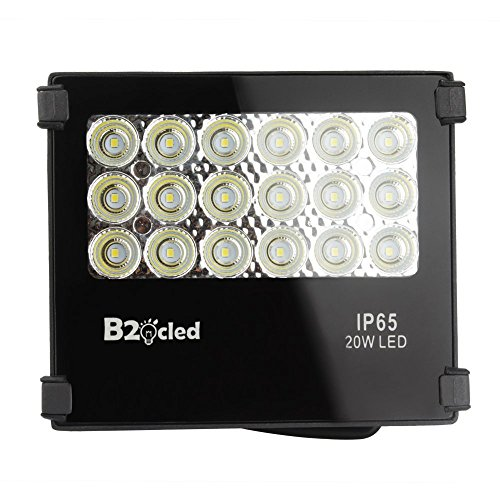 LED Floodlight 20W Outdoor Fixture Waterproof Landscape Security Spotlight, 1900lm Green Light, Equivalent to 100 watts Halogen Bulbs from B2ocled