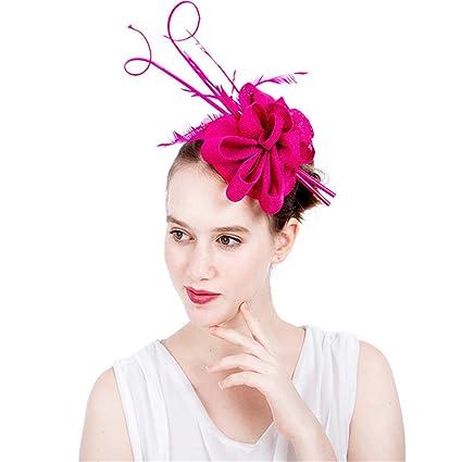 b76515b0d32 Ybriefbag Tea Party Headwear for Girls Women Womens Elegant Cocktail Tea  Party Royal Ascot Hat Fascinator