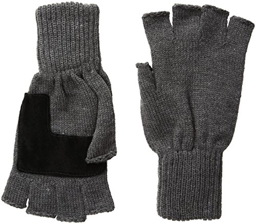 Levi's Men's Heathered Knit Fingerless Gloves,Charcoal,One Size (Men Gloves Fingerless)