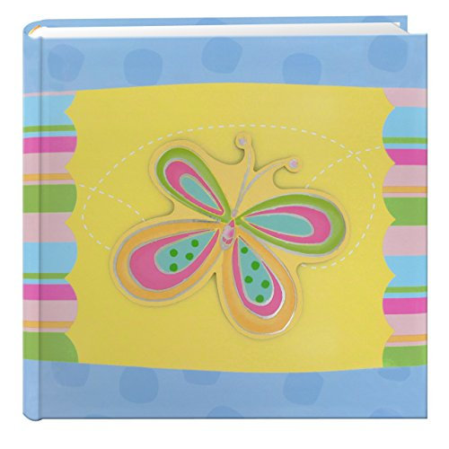 Pioneer Photo Albums 200-Pocket 3-D Striped Butterfly Applique Cover Photo Album, 4 by 6-Inch by Pioneer Photo Albums