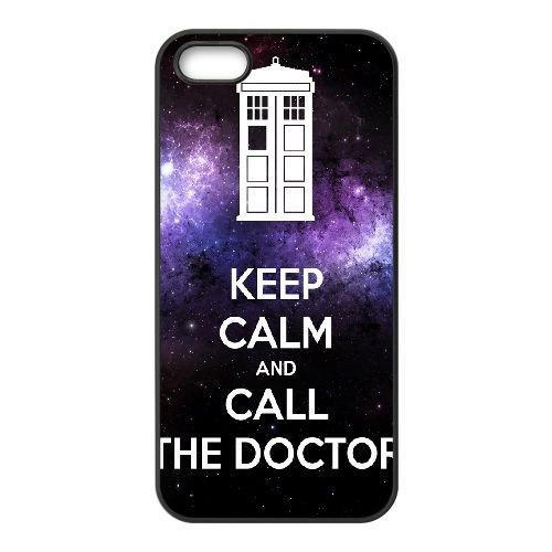 Keep Calm Call Doctor 001 coque iPhone 5 5S cellulaire cas coque de téléphone cas téléphone cellulaire noir couvercle EOKXLLNCD25200