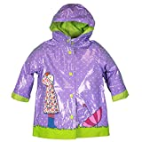 Wippette Toddler-Girls Fully Lined Waterproof Purple Durable Rain Jacket 4T