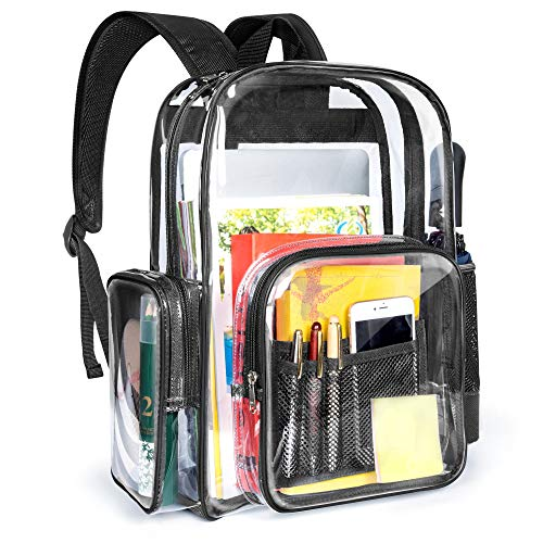 Clear Backpack, Packism Heavy Duty Clear Backpack for Adults with Reinforced Straps Large Clear Bookbag Waterproof Transparent Backpack for School, Security, Stadiums, Work (Best High School Stadiums)