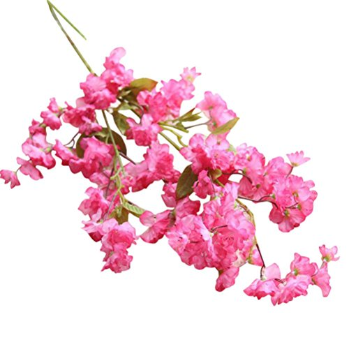 Paymenow Artificial Fake Clearance Cherry Blossom Silk Flower Bridal Hydrangea for Crafts Office Wedding Home Garden Decor (Pink B)